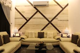 Duplex at Indore: asian Living room by Shadab Anwari & Associates.