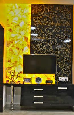 Salas de entretenimiento de estilo  por Shadab Anwari & Associates.