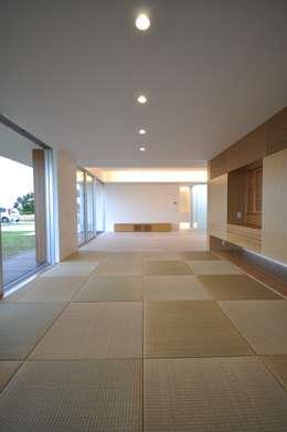 modern Media room by 門一級建築士事務所