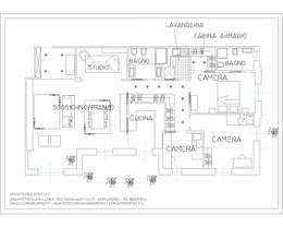 Projekty,  Salon zaprojektowane przez ARCHITETTO LAURA LISBO