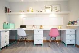 Oficinas de estilo moderno por NAU DISEÑO Y CONSTRUCCION