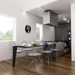 minimalistic Dining room by Dario Cipelletti Architect