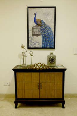 Cabinet: modern Dining room by renu soni interior design