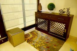 Entry:  Corridor, hallway & stairs  by renu soni interior design