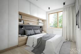غرفة نوم تنفيذ MGN Pracownia Architektoniczna