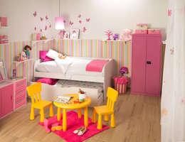 Recámara niña: Habitaciones infantiles de estilo  por Idea Interior