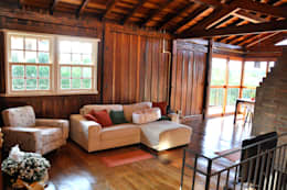 Residência G.S: Salas de estar rústicas por Zani.arquitetura