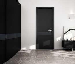 Resultado de imagen de puerta interior negra