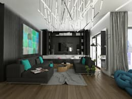 modern Living room by emc|partners