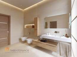 minimalistic Bathroom by Студия Павла Полынова