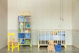 Recámara para bebés.: Habitaciones infantiles de estilo  por MARIANGEL COGHLAN