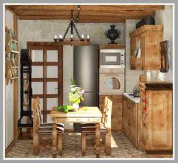 Cocinas de estilo rústico por Рязанова Галина