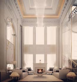 Adorable Luxury Fireplace Lounge : classic Living room by IONS DESIGN