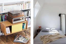 Transformation de chambres de bonne à Paris 11ème: Chambre de style de style Moderne par GALI Sulukjian Architecte