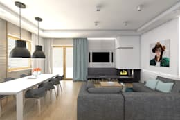 modern Living room by BAGUA Pracownia Architektury Wnętrz