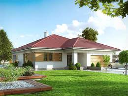 Wizualizacja projektu domu Decyma 5: styl nowoczesne, w kategorii Domy zaprojektowany przez BIURO PROJEKTOWE MTM STYL