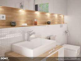 Wizualizacja wętrza projektu domu Umbra: styl , w kategorii Łazienka zaprojektowany przez Biuro Projektów MTM Styl - domywstylu.pl