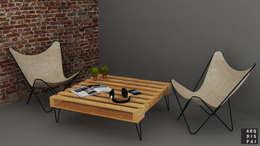 Mesa de centro: Livings de estilo rústico por Arquitecto Ariel Ramírez
