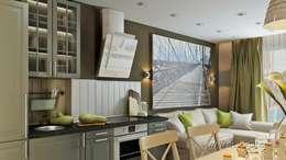 Студия в стиле Икеа: Гостиная в . Автор – студия Design3F