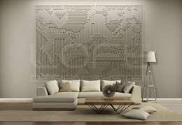 Trendy modern kreativ wandgestaltung mit wow faktor - 3d wandpaneele wohnzimmer ...