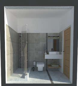 Baños de estilo minimalista por ARQ. María Florencia Fernández