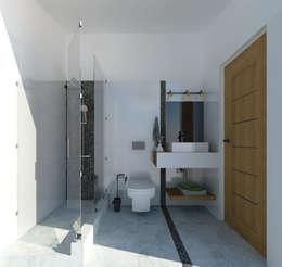 Baños de estilo moderno por ARQ. María Florencia Fernández