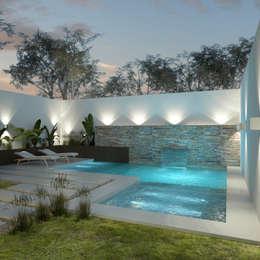 14 piscinas em quintais pequenos que v o te inspirar for Patios pequenos modernos con piscina