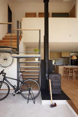 ระเบียงและโถงทางเดิน by toki Architect design office