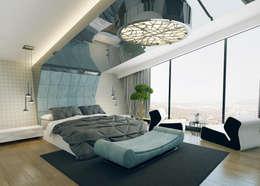 Nuevo Tasarım – Ankara Villa Projesi: modern tarz Yatak Odası