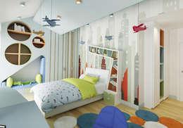 Nuevo Tasarım – Ankara Villa Projesi: modern tarz Çocuk Odası
