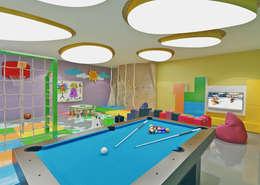 Nuevo Tasarım – Ankara Villa Projesi: modern tarz Multimedya Odası