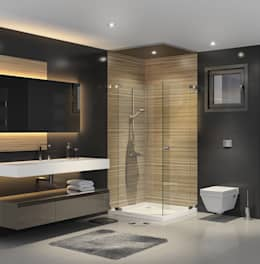 F&F mimarlik – Panorama villaları: modern tarz Banyo