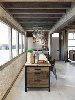 industrial Kitchen by Anton Medvedev Interiors