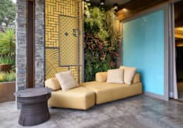 Varanda: Terraços  por Gislene Lopes Arquitetura e Design de Interiores