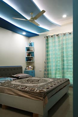 3bhk apartment in Appasamy Mapleton, Pallikaranai.. : asian Bedroom by Ashpra Interiors