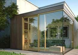 Salas de estilo moderno por Qr legno srl