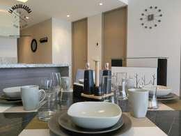 Departamento T300: Comedores de estilo moderno por La Maquiladora / taller de ideas