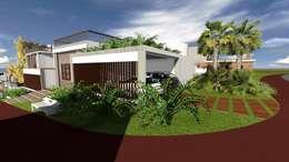 Casa-0 - Garagem:   por Danyel Iglesias Lopes Arquitetura