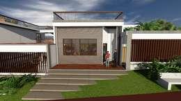 Casa-0 - Fachada principal:   por Danyel Iglesias Lopes Arquitetura