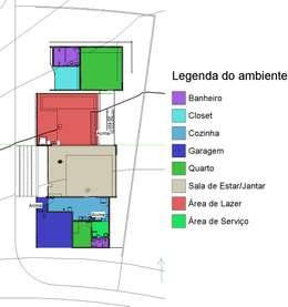 Casa-0 - Planta de setorização:   por Danyel Iglesias Lopes Arquitetura