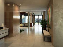 Pasillos, vestíbulos y escaleras de estilo moderno por Interiorisarte