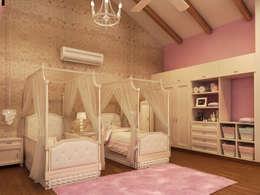 Residencia AC: Recámaras infantiles de estilo clásico por Interiorisarte