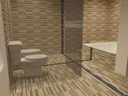 Interiores de Vivienda Acosta: Baños de estilo minimalista por Arq. Jose F. Correa Correa