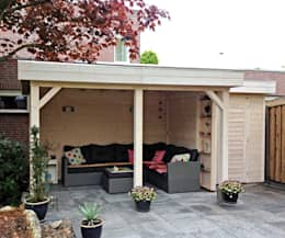 Gazebo with intergrated garden store: classic Garden by Garden Affairs Ltd