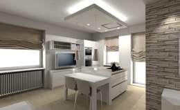 غرفة المعيشة تنفيذ Cristiano Rossi Interior Designer