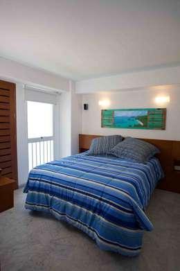 Apartamento 93-A: Cuartos de estilo moderno por Objetos DAC
