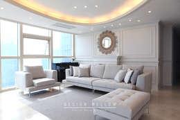 모던 클래식, 해운대 제니스 인테리어: 디자인 멜로 (design mellow)의  거실