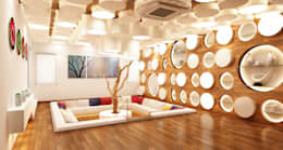 Mr. Ramesh Residence at Neyveli: modern Living room by Dwellion