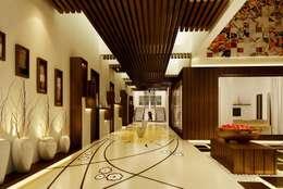 Mr. Ramesh Residence at Neyveli:  Corridor & hallway by Dwellion