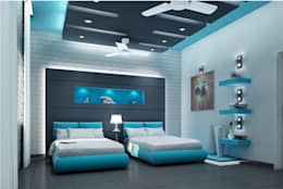 Mr. Ramesh Residence at Neyveli: modern Bedroom by Dwellion